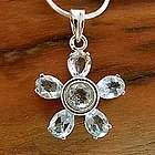 Forget-Me-Not Topaz Floral Necklace