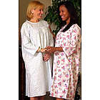 Women's Adaptive Flannel Backwrap Gown