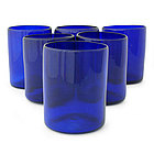 'Cobalt Charm' Juice Glasses