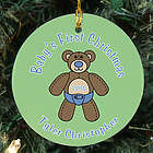 Baby's Teddy Bear First Christmas Ornament