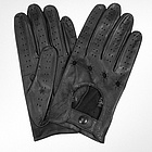 Men's Black Italian Leather Gloves