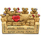 Customized Bear Family Heart Figurine