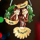 Personalized Two Monkeys Family Ornament