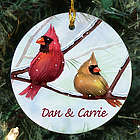 Personalized Ceramic Cardinals Ornament