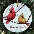 Personalized Ceramic Cardinals Ornament