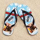 Personalized Pet Nametag Beacher Photo Sandal
