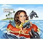 Ocean Photographer Custom Caricature from Photo