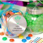 Personalized Glass Candy Jars
