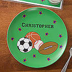 Personalized Boy's Sports Dinner Plate