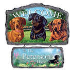 Personalized Dog Welcome Sign