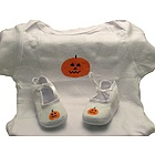 Halloween Pumpkin Baby Layette Set