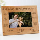Personalized Our Honeymoon Picture Frame