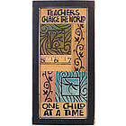 Teachers Change the World Collage Plaque