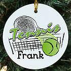 Tennis Personalized Ceramic Ornament