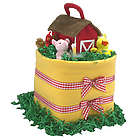 Barn and Bale Diaper Cake