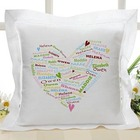 Her Heart of Love Personalized Linen Pillow