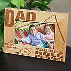 A Hole In One Wood Picture Frame
