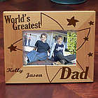 World's Greatest Stars Wood Picture Frame