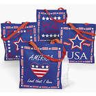 Large Patriotic Tote Bags Set