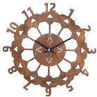 "Art Deco 13"" Steel Garden Clock"