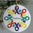 Autism Ribbon Snowflake Ornament