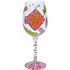 """H"" Wine Glass"