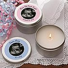 Baby's Sonogram Personalized Candle Favors