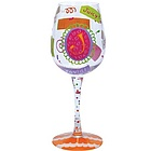 """J"" Wine Glass"