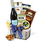 Classic Champagne and Snacks Gift Basket