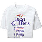 Personalized Top 10 Best Golfers T-Shirt