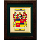 Personalized 11 x 14 Coat of Arms Matted & Framed Print