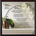 "Personalized ""To Mom with Love"" Framed Canvas"