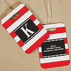 Personalized Stripes Bag Tag