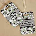 Personalized Jagged Squares Bag Tag
