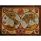 Antique Globes Color Leather Map with Rods