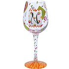 """N"" Wine Glass"