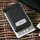 Magnetice Black Leather Money Clip