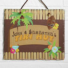 Tropical Paradise Personalized Slate Plaque