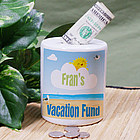 Personalized Vacation Fund Ceramic Jar