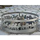 Decorative Mustangs Fire Ring