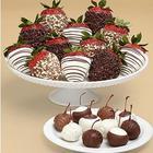10 Cherries & 1 Dozen Fancy Chocolate Chip Covered Strawberries