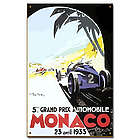 1933 Monaco Grand Prix Vintage Car Sign