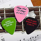 Personalized Text and Color Guitar Pick