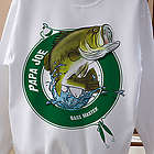 Fisherman Personalized Adult White Sweatshirt