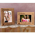Personalized Bridesmaid Wooden Picture Frame