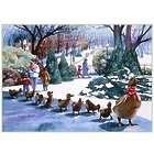 Ducklings in Boston Public Garden 17x23 Art Print