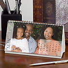 Any 12 Months Personalized Photo Desk Calendar