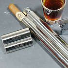 Engraved Stainless Steel Cigar and Flask Case