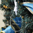 Personalized Baby's First Christmas Oval Ornament