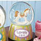 Personalized Teddy Bear or Rocking Horse Glitter Dome